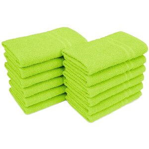 "Allure 29 - 100% Cotton Nail & Spa Towel 16"" X 29"" Lime Green 12 Pack (19283 - ADI #75283)"