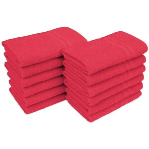 "Allure 29 - 100% Cotton Nail & Spa Towel 16"" X 29"" Red 12 Pack (19277 - ADI #75259)"