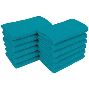 "Allure 29 - 100% Cotton Nail & Spa Towel 16"" X 29"" Teal 12 Pack (19269 - ADI #75206)"