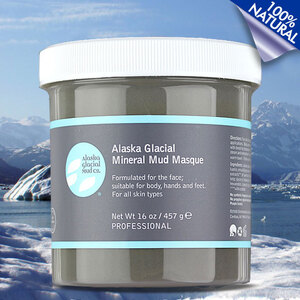 Alaska Glacial Mineral Mud Masque - Refreshing Lavender & Peppermint - 100% Natural Professional Size - 16 oz. (BR010)
