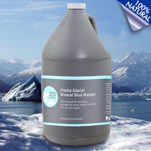 Alaska Glacial Mineral Mud Masque - Refreshing Lavender & Peppermint - 100% Natural Professional Size - 1 Gallon (LBR010)