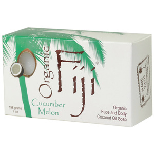 Cucumber Melon Certified Organic Cold Pressed Coconut Oil Soap Cleanser for Face & Body 7 oz. Bars Case of 24 Bars (833884000862)