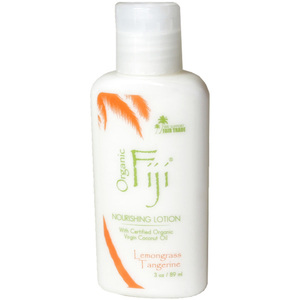 Lemongrass Tangerine Moisturizing Lotion: Made with Certified Organic Coconut Oil 3 oz. Each Case of 48 (833884000121)