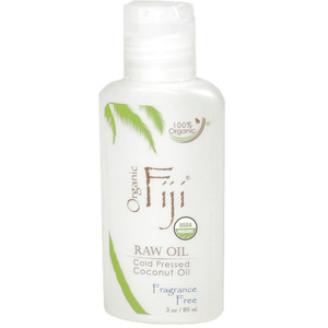 Fragrance Free Certified Organic Cold Pressed Coconut Oil for Face Body & Hair 3 oz. Each Case of 48 (833884000183)