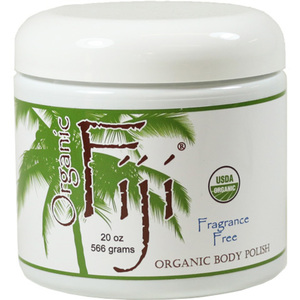 Fragrance Free Certified Organic Cold Pressed Coconut Oil Sugar Polish 20 oz. Each Case of 12 (833884000893)