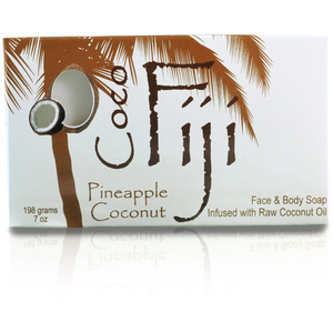 Pineapple Coconut Face & Body Soap Infused with Organic Coconut Oil Case of 15 Bars by Organic Fiji ()