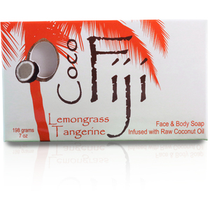 Lemongrass Tangerine Face & Body Soap Infused with Organic Coconut Oil Case of 15 Bars by Organic Fiji ()