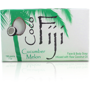 Cucumber Melon Face & Body Soap Infused with Organic Coconut Oil Case of 15 Bars by Organic Fiji ()