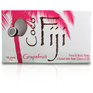 Pink Grapefruit Face & Body Soap Infused with Organic Coconut Oil Case of 15 Bars by Organic Fiji ()