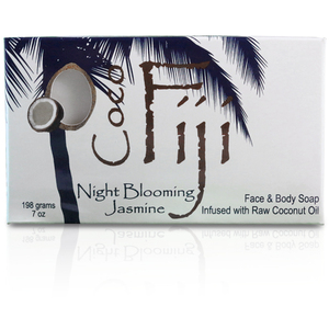 Night Blooming Jasmine Face & Body Soap Infused with Organic Coconut Oil Case of 15 Bars by Organic Fiji ()