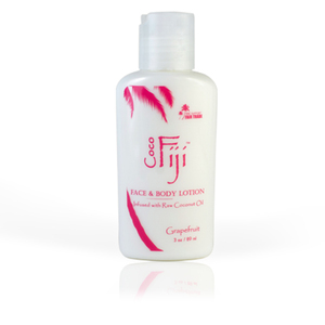 Pink Grapefruit Face & Body Lotion Infused with Raw Coconut Oil 3 oz. Case of 20 Bottles by Organic Fiji ()