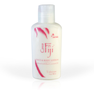Tuberose Face & Body Lotion Infused with Raw Coconut Oil 3 oz. Case of 20 Bottles by Organic Fiji ()