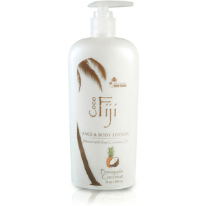 Pineapple Coconut Face & Body Lotion Infused with Raw Coconut Oil 12 oz. Case of 8 Bottles by Organic Fiji ()