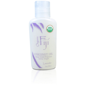 Lavender Certified Organic Coconut Oil for Body & Hair 3 oz. Case of 20 Bottles by Organic Fiji ()