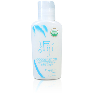 Fragrance Free Certified Organic Coconut Oil for Body & Hair 3 oz. Case of 20 Bottles by Organic Fiji ()