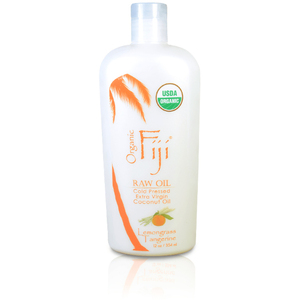 Lemongrass Tangerine Certified Organic Coconut Oil for Body & Hair 12 oz. Case of 8 Bottles by Organic Fiji ()