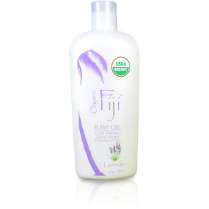 Lavender Certified Organic Coconut Oil for Body & Hair 12 oz. Case of 8 Bottles by Organic Fiji ()