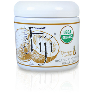 Pineapple Coconut Certified Organic Sugar Polish 20 oz. Case of 8 Jars by Organic Fiji ()