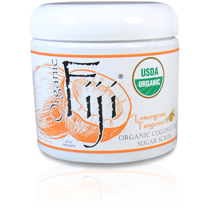 Lemongrass Tangerine Certified Organic Sugar Polish 20 oz. Case of 8 Jars by Organic Fiji ()