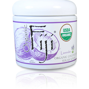 Lavender Certified Organic Sugar Polish 20 oz. Case of 8 Jars by Organic Fiji ()