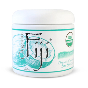 Peppermint Sea Salt Polish 20 oz. Case of 6 Jars by Organic Fiji ()