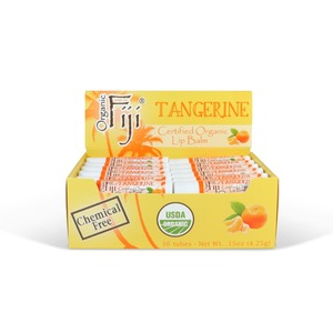 Tangerine 36-Tube Lip Balm Display by Organic Fiji ()