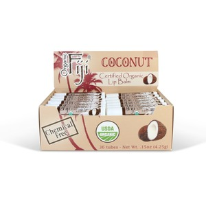 Coconut 36-Tube Lip Balm Display by Organic Fiji ()