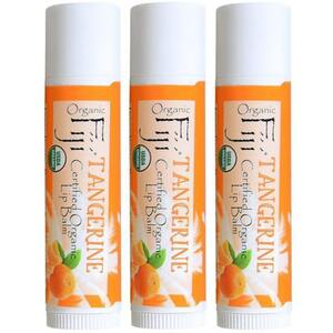 Tangerine Coconut Oil Lip Balm Case of 42 Tubes by Organic Fiji ()