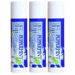 Peppermint Coconut Oil Lip Balm Case of 42 Tubes by Organic Fiji ()