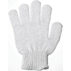 White Exfoliating Bath Glove with Retail Hang Tab 150 Gloves (96578 X 150)