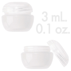 Natural Beauty Pot with Lid 0.1 oz. - 3mL. 1000 Count (29850 X 1000 + 29851 X 1000)