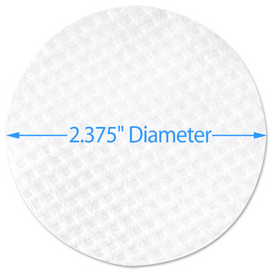 "Waffle Cleansing Pad - 2.375"" Diameter 5000 Pack (96610 X 2)"