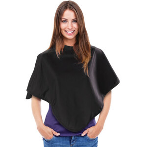 "Short Makeup Cape with Snaps - 30"" x 30"" - Black Pack of 6 (504521 X 6)"