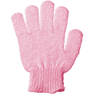 Pink Exfoliating Bath Glove with Retail Hang Tab - Individually Bagged 150 Gloves (96578 X 150)