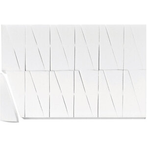 Latex-Free Makeup Wedge Sponge Blocks - White 24 Wedges per Block X 65 Blocks = 1560 Sponge Wedges (20138 X 65)