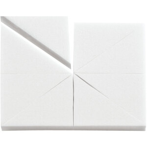 Latex-Free Makeup Wedge Sponge Blocks - White 8 Wedges per Block X 80 Blocks = 640 Sponge Wedges (20142 X 80)