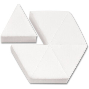 Latex-Free Makeup Hex Sponge Blocks - White 6 Triangles per Block X 288 Blocks = 1728 Sponge Triangles (20161 X 48)