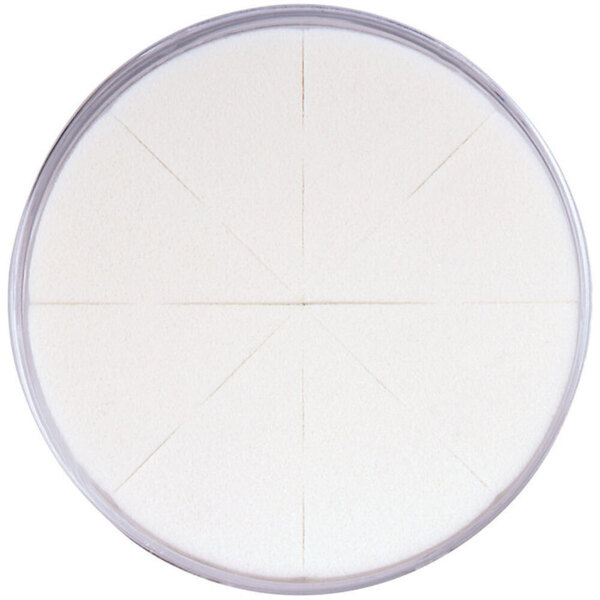 Latex-Free Makeup Wedge Sponge Wheel - White in Clear Container 8 Wedges per Clear Container X 50 Units = 400 Sponges (20121 X 50)