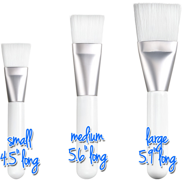 "Medium Flat Multi-Purpose Brush - White - 5.6"" Long with 1.04"" Wide Brush Head Case of 50 Individually Wrapped Brushes (511305 X 50)"