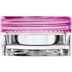 Clear Square Sample Jars with Pink Round Caps - 0.1 oz - 3 mL. 500 Pack (29347 X 10)