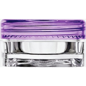 Clear Square Sample Jars with Purple Round Caps - 0.1 oz - 3 mL. 500 Pack (29349 X 10)