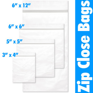 "Zip Close Bag - 5"" X 5"" 100 Pieces per Pack X 24 Packs = 2400 Bags (599903 X 24)"