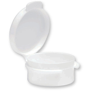 Round Hinged Jar - White - 0.18 oz. Case of 1000 Jars (29319 X 2)
