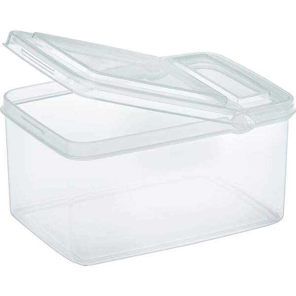 Medium Rectangle Container with Flip Top Lid - Clear - 32 oz. Case of 40 Containers (10179 X 40)
