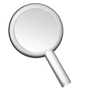 Dual Sided Hand Held Mirror - Clear - 1X5X Magnification Pack of 18 (513550 X 18)
