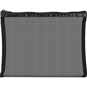 "Simply Mesh - Large Pouch with Zipper Closure - Black 9"" x 6.5"" Pack of 24 - Individually Wrapped (59928 X 24)"