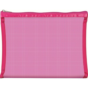 "Simply Mesh - Large Pouch with Zipper Closure - Pink 9"" x 6.5"" Pack of 24 - Individually Wrapped (59931 X 24)"