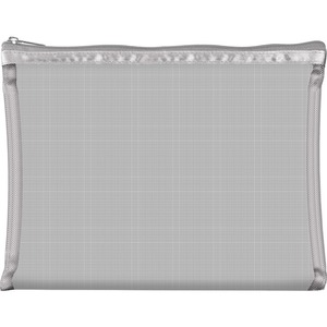 "Simply Mesh - Large Pouch with Zipper Closure - Silver 9"" x 6.5"" Pack of 24 - Individually Wrapped (59932 X 24)"