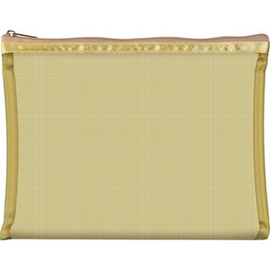 "Simply Mesh - Large Pouch with Zipper Closure - Gold 9"" x 6.5"" Pack of 24 - Individually Wrapped (59929 X 24)"