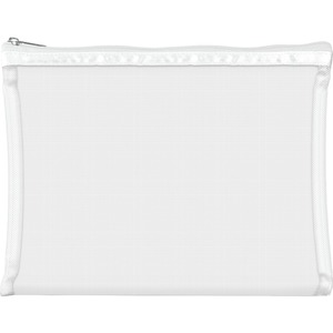 "Simply Mesh - Large Pouch with Zipper Closure - White 9"" x 6.5"" Pack of 24 - Individually Wrapped (59943 X 24)"